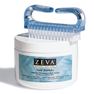 Zeva Nail Bubbles with Nail Brush - Nail Whitening For