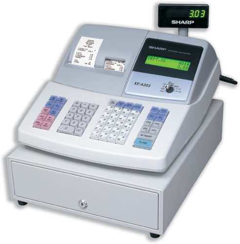 Sharp Cash Register 16 Digit LED Tax Euro 99 Departments 13 Lines/sec W355xD430xH312mm Ref XEA303