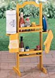 Outdoor Wooden Barbeque Condiment Caddy