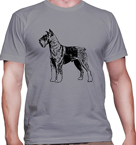 herren-t-shirt-mit-schnauzer-dog-breed-illustration-print-rundhalsausschnitt-x-large-grau