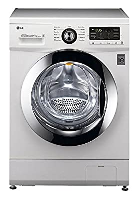 LG F1296ADP23 Fully-automatic Front-loading Washing Machine (8 Kg, Blue White)