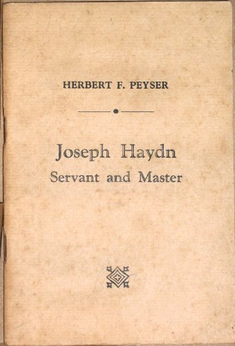 Image for Joseph Haydn :  Servant and Master