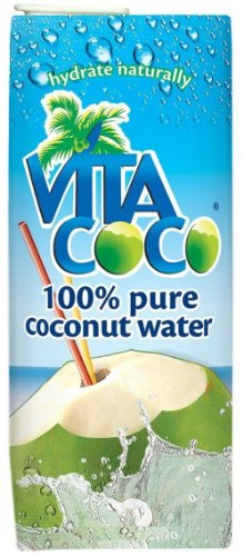 Vita Coco 100% Pure Coconut Water, 33.8 Ounce Boxes (Pack of 6)