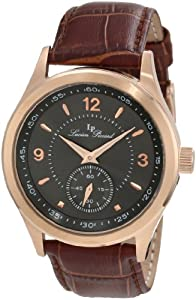 Lucien Piccard Men's 11606-RG-014 Grande Casse Charcoal Dial Brown Leather Watch