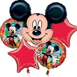 Disney Mickey Mouse Balloon Birthday Party Favor Supplies 5ct Foil Balloon Bouquet