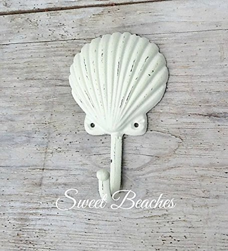 Shell-Hook-Clothes-Towel-Beach-Seaside-Resort-Nautical-Ocean-Sea-Decor-Seashell
