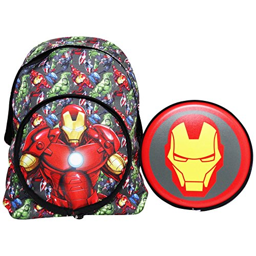 Marvel Iron Man Zaino Scuola Elementare Medie con Frisbee