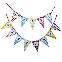 Bobee Happy Birthday Party Decorations 13 flag banner from Bobee