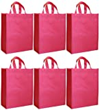 Reusable Gift Bags, Large Tall, Blush, 6 Pack