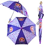 Disney Girl's Sofia the first pincess Umbrella- 3D Handle