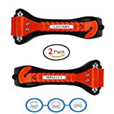 (Big)2 Pack of LOYMR Car Safety Antiskid Hammer - Auto Safety Seatbelt Cutter Glass Window Punch Breaker Emergency Rescue Disaster Escape Tool - Must-Have Life Saving Survival Kit