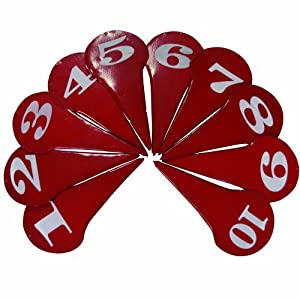 Buy Amber Sporting Goods Discus & Black Shot Markers (Set of 10 Pieces) by Amber
