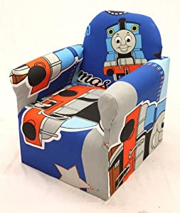 thomas the tank engine childrens branded cartoon character armchair chair bedroom playroom kids. Black Bedroom Furniture Sets. Home Design Ideas