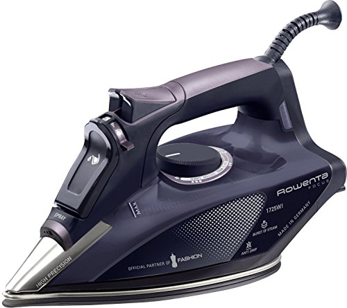 Rowenta Dw5197 Focus Steam Iron With Stainless Steel Soleplate, 1725-Watt, Purple front-7285