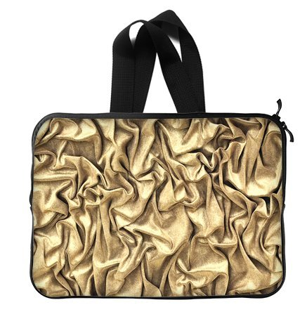 Fashion Shine Bling Golden 15 Inch Laptop Sleeve Bag With Hidden Handle For Laptop / Notebook / Ultrabook / Macbook front-28407