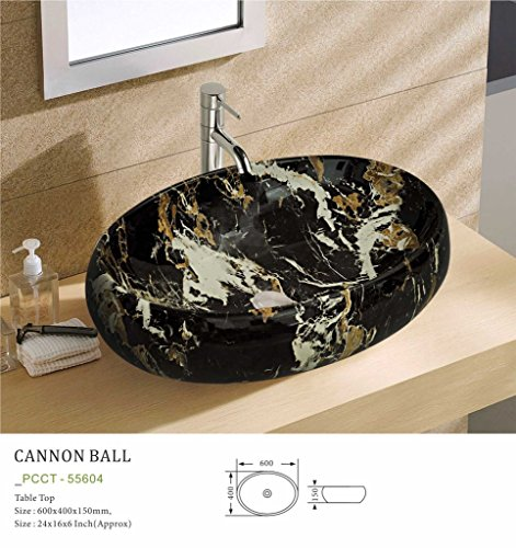 Plano Designer Sanitary ware Tabletop Wash Basin Canon Ball