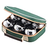 Jaques Polished Alloy 6 Boule Bocce Ball Set - Petanque