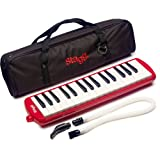 Stagg MELOSTA32RD 32 Note Melodica with Case Red