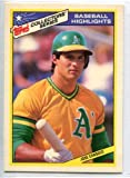 【大リーグカード】 Jose Canseco - 1987 Topps Collector's Series #12 ホセ・カンセコ