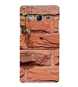PrintVisa Red Brick Pattern 3D Hard Polycarbonate Designer Back Case Cover for SAMSUNG Z3 Tizen