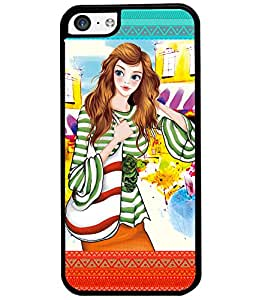 Fuson Nice Girl Back Case Cover for APPLE IPHONE 5C - D4122