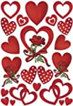 Sticker Herma DECOR, Herzen + Rosen,...