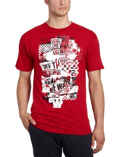 Vans Otw Checker Blaster Men's T-Shirt Cardinal Large