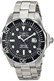 Invicta Mens 12562X Pro Diver Black Carbon Fiber Dial Stainless Steel Watch