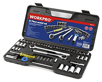 "Workpro 52-Piece Socket Set (3/8"" and 1/4"" Drive Sockets)"