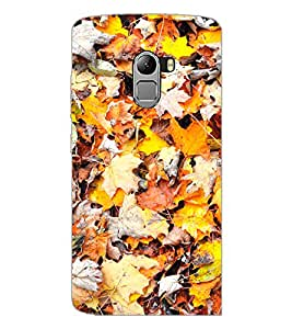 PrintDhaba Leaves D-2790 Back Case Cover for LENOVO K4 NOTE A7010 (Multi-Coloured)