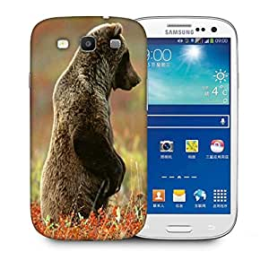Snoogg Bear Watching Printed Protective Phone Back Case Cover For Samsung S3 / S III