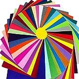 大容量 カラー フェルト 40 色 セット 厚さ 1.0 mm 手芸 材料 手作り 等に 30 cm x 30 cm