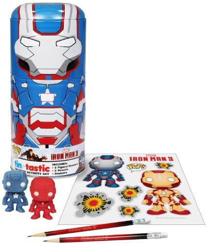 Funko Marvel: Iron Man Movie 3 Iron Patriot Tin-Tastic Playset