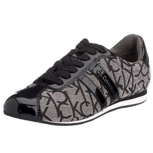 CK Calvin Klein Women's Gayla N1042 Trainer Granite/Black N1042GRB39 6 UK