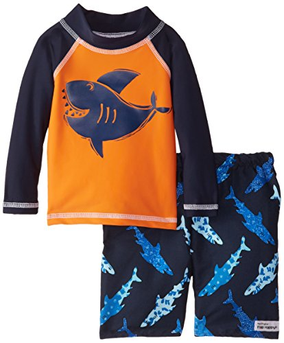 Flap happy baby boys 39 long sleeve rash guard swim top and for Baby rash guard shirt