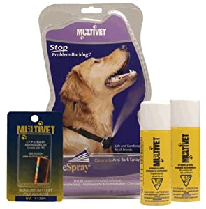 Multivet Anti bark Valuepack Collar, battery and sccentless refill