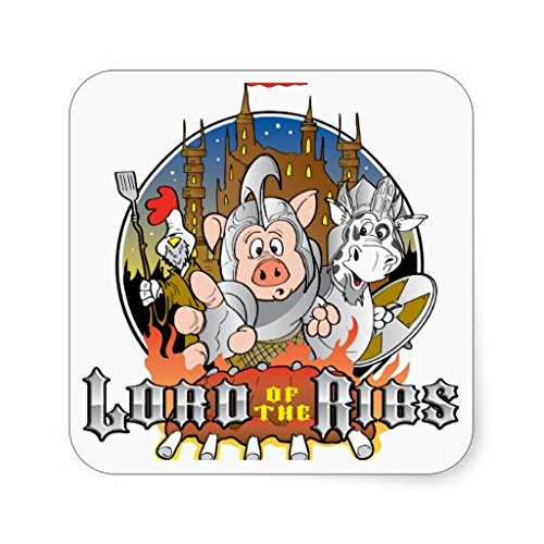 Lord Of The Ribs BBQ Stickers