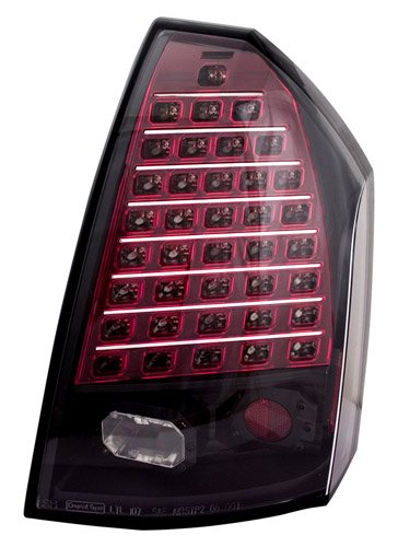 Ipcw Ledt-412Cb Bermuda Black Led Tail Lamp With Upper 6 Rows For Turn And Lower 3 Rows For Brake - Pair