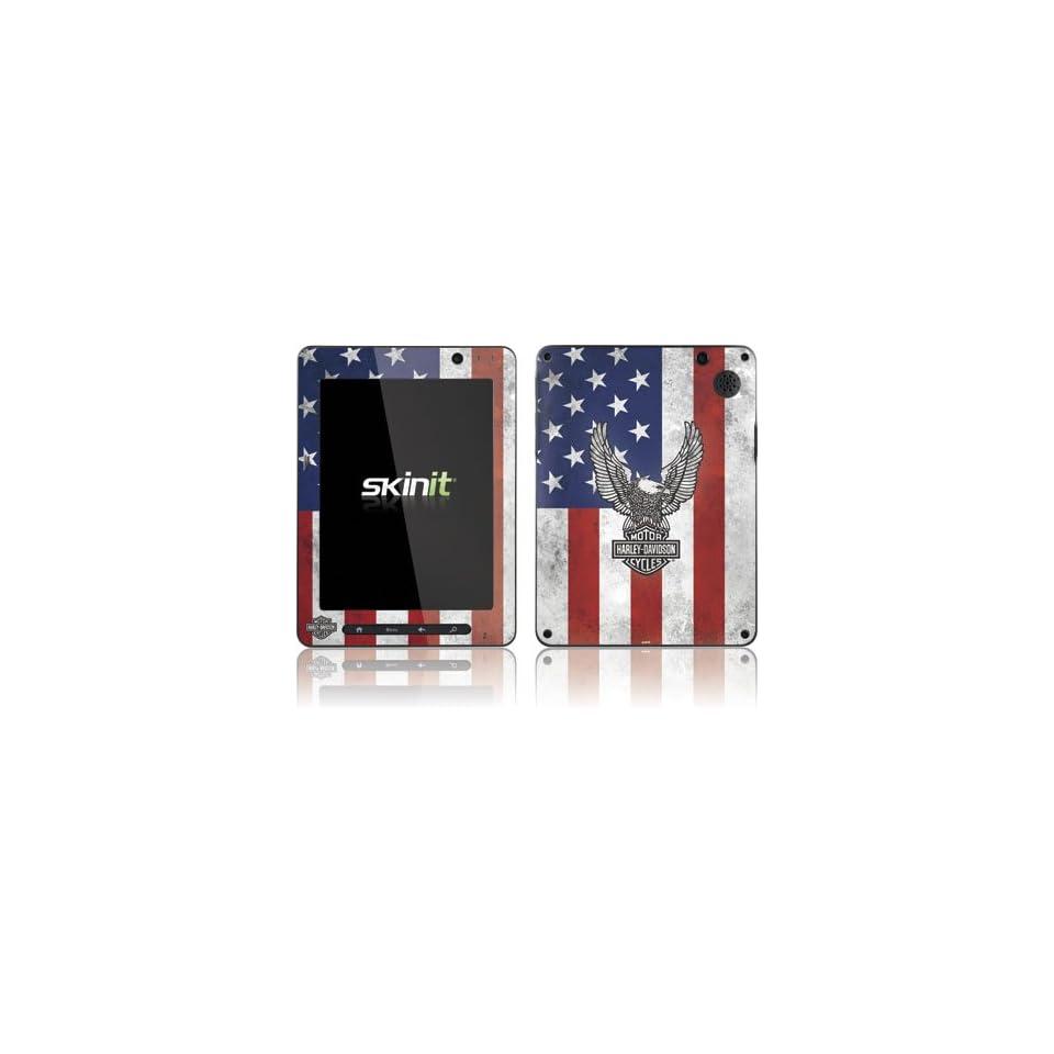 Skinit Harley Davidson Eagle Logo on American Flag Vinyl Skin for Pandigital Super Nova