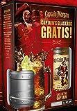 1 Flasche Captain Morgan Spiced Gold a 0,7L + Glaskrug new Design