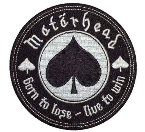 Motorhead Rock Music Band Patch -Born to Lose - Live to Win [4 inches]