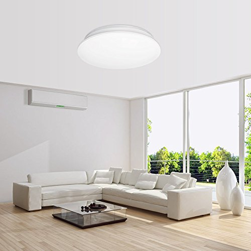 LE 24W Daylight White Ø41cm LED Ceiling Lights, 180W Incandescent(50W  Fluorescent) Bulbs Equivalent, 2000lm , 6000K, Flush ...