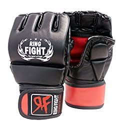 Ring Fight MMA UFC Grappling Gloves TP(Black/Red)