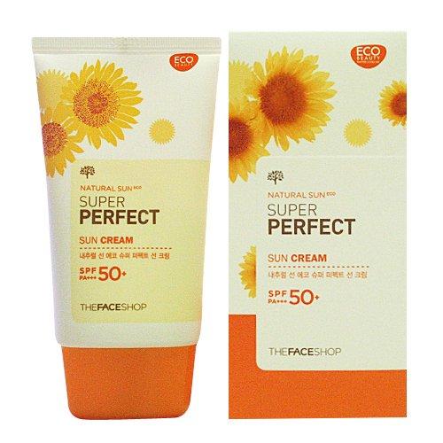 The Face Shop Super Perfect Sun Cream Spf50+/Pa+++ Sunscreen 50Ml front-56748