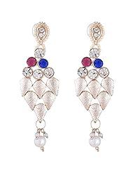 Bel-en-teno White Alloy Earring Set For Women