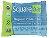 Squarebar Organic Protein Bar Cocoa Coconut, 1.7-ounce Bars (Pack of 12)