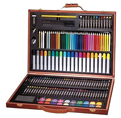 Great Gift! 173 Pieces Sketch and Drawing Pencil Set Kit / Art Materials Portraits Draw Painting Pencil Colored Professional Photo Beginners Drafting Graphic Designer Easy Sketchbook Pens Picture Sticks Pastel Stuff Supplies Birthday Gift Item Shop Store