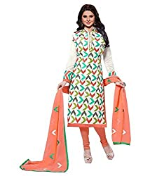 shubham creation women's multi color salwar suite georgette dress material