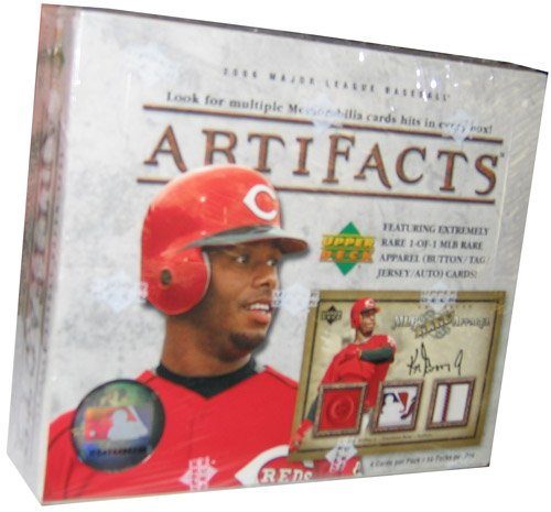 2006 Upper Deck Artifacts Baseball Cards Unopened Hobby Box (10 packs per box, 4 cards per pack, randomly inserted autographs, memorabilia cards, 1of1 cards, and more!)