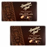 Hawaiian Host, Premium Dark Chocolate - WHOLE MACADAMIA NUTS, (2 PACK)